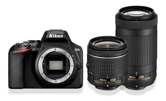 Nikon Reflex D3500 Kit 18-55 Vr+ 70-300 Af P + Mochila