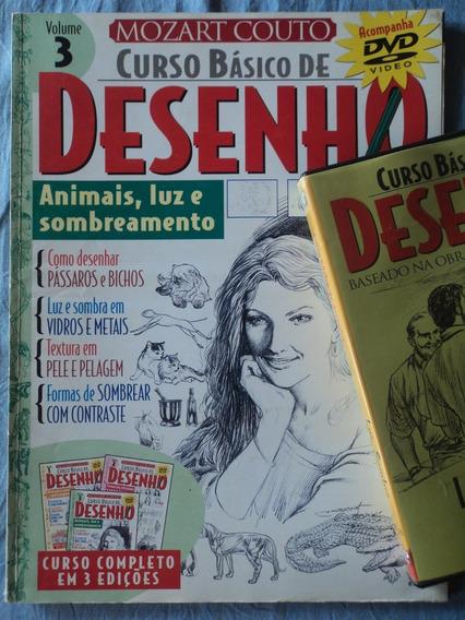 Revista-curso Básico De Desenho:volume 3:mozart Couto+dvd