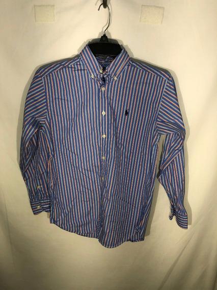# Camisa M Ralph Lauren Id L389 Usada Niño