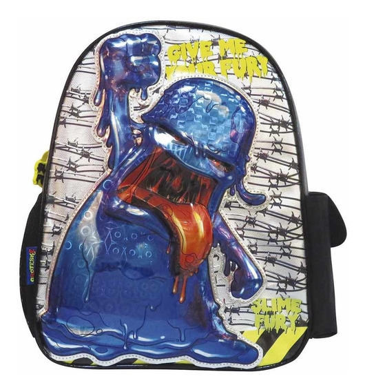 Mochila De Espalda Slime Fury Montruo Azul 16 Pulg