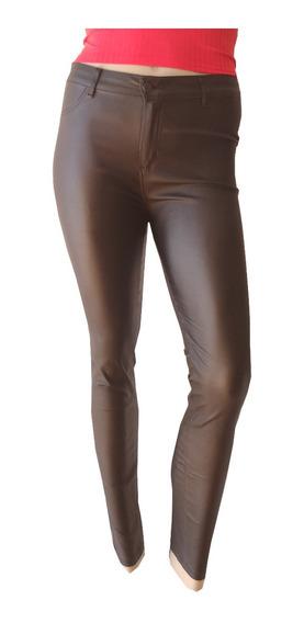Pantalon Engomado Mujer Chupin Elastizado Talles Grandes