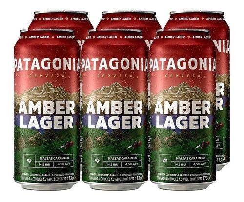Imagen 1 de 10 de Patagonia Amber Lager . Cerveza . 473ml X 6 - Tomate Algo® -