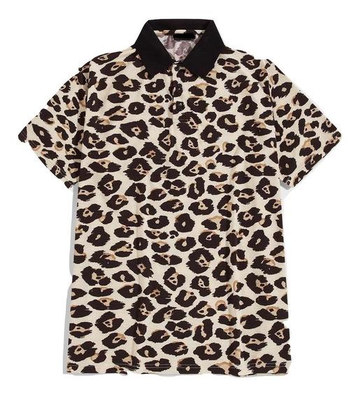 Playera Tipo Polo Leopardo Playeras Polo Camisas Ropa Hombre