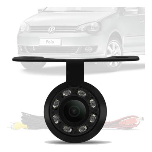 Imagem 1 de 4 de Camera De Ré Borboleta Led Visão Noturna Vw Polo Sedan