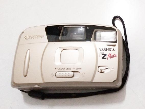 Câmera Antiga Yashica Ez Mate - Funcionando (leia O Anúncio)
