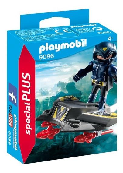 Playmobil 9086 Espía Con Jet
