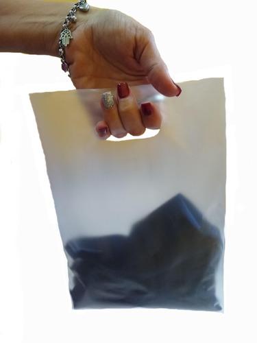 300 Bolsas Lisas Semitransparentes Riñon Polietileno 40x50