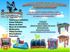 Alquiler De Colchones Inflables, Cama Elastica, Muñecotes.