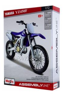 Kit Para Montar Yamaha Yz450f Maisto 1:12 Azul 39051-6