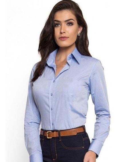 Camisa Blusa Social Feminina Slim Pronta Entrega 2019
