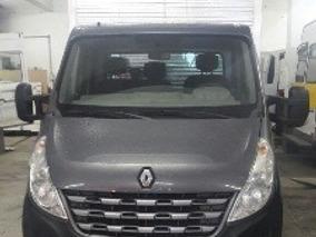 Renault Master Furgon 2014 3 Lugares Cinza Escuro Com Ar
