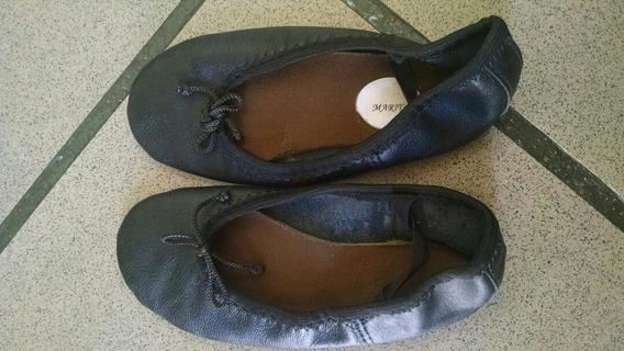 (10v) Zapatill Ballet Torerit Disfraz Cuero Negro Talla 27