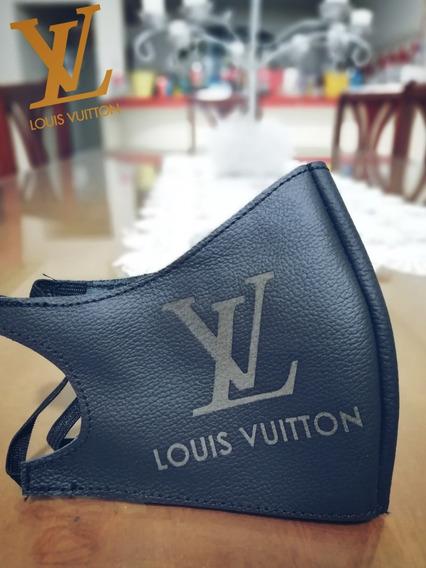 Cubrebocas Con Logo Pinchado L Vuiton Lavable Y Reutilizable