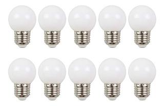 10 Lámparas Led Gota Opal E27 1w Luz Cálida Ide Guirnaldas