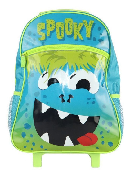 Mochila Infantil Escolar Rodinha Grande Meninos Spooky