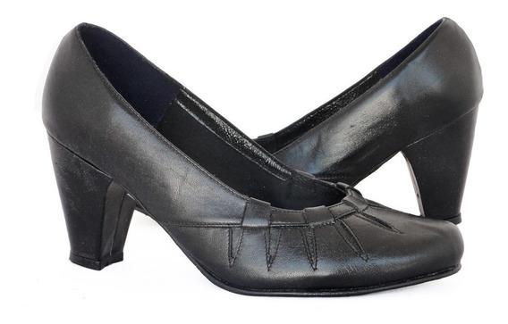 Zapatos De Cuero Tacon Uniforme Vestir Mayor Y Detal