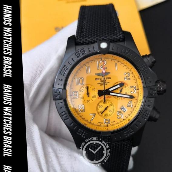 Relógio De Luxo Black Orange Dial