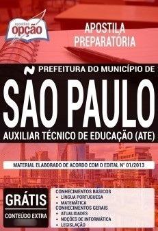 Apostila Prefeitura São Paulo Sp Aux Técnico Educação -opção