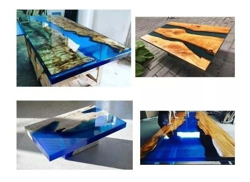Resina Epoxi Cristal - River Table - Artesanato Madeira Mdf