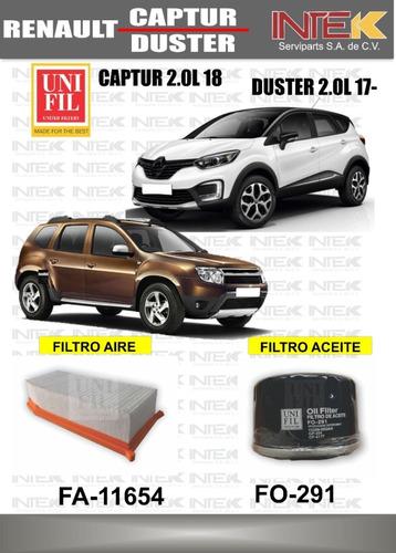Imagen 1 de 4 de Kit De Filtros Renault Duster 2.0l 2017-captur 2.0l 2018