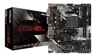 Motherboard Asrock A320m-hdv Am4 R4.0 Amd Socket Am4 A-serie