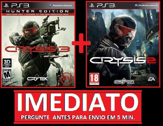 Crysis 3 + Crysis 2 Ps3 Psn Midia Digital