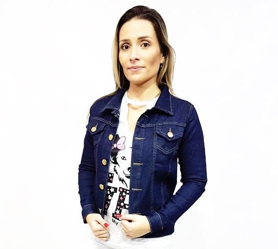 Kit 2 Jaqueta Jeans Feminina Com Lycra Até O G3