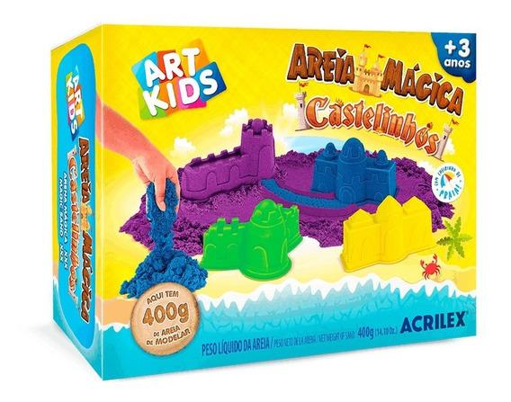 Areia Mágica Cinética Kit Castelinhos 400g