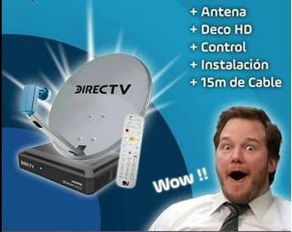 Decodificador Directv Hd Con Antena Cable Plan