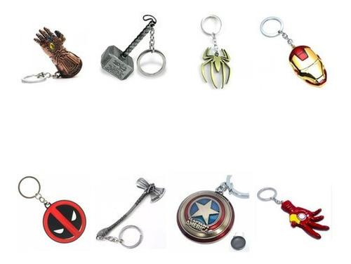 Llaveros Metálicos Avengers Thanos Martillo Thor