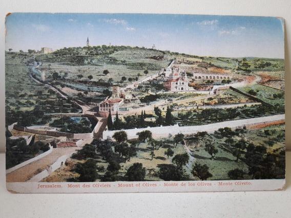 Antigua Postal De Jerusalén Del Monte De Los Olivos