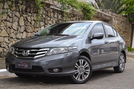 Honda City Lx Aut. - Único Dono - Bancos Em Couro - 2014