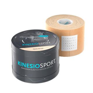 Kinésiosport Bandagem Elástica Adesiva 5m X 5cm Bege