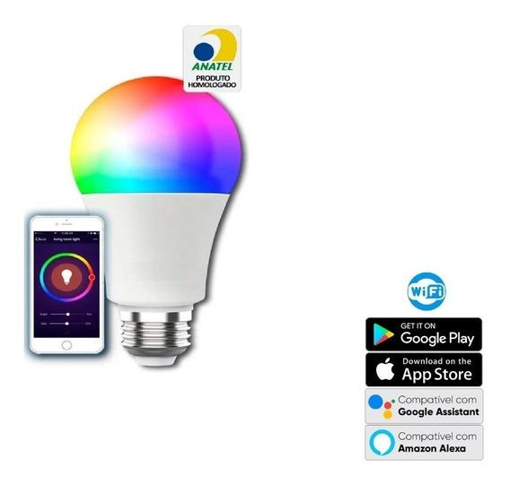 Smart Lampada Led Inteligente Rgb - Funciona C/ Alexa Google