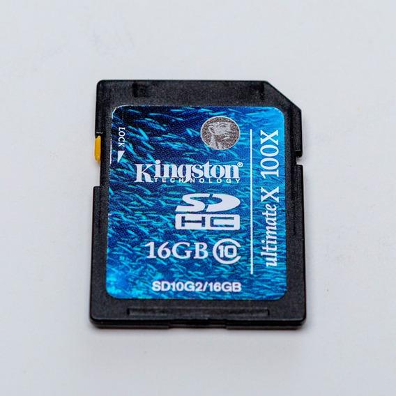 Cartão De Memória Sdhc 16gb Kingston Ultimate X 100x Class10
