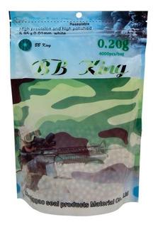Munição Airsoft Esferas Bb King - 0,20g - 4.000 Bbs - Barato
