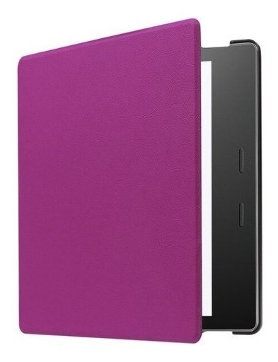 Capa Em Couro Magnética Para Amazon Kindle Oasis - Lilás