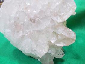 Drusa Cristal Quartzo Gerador Pedra C/pontas Perfeitas 12cm