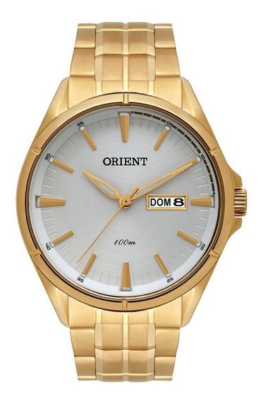 Relógio Orient Masculino Dourado Mgss2008 S1kx