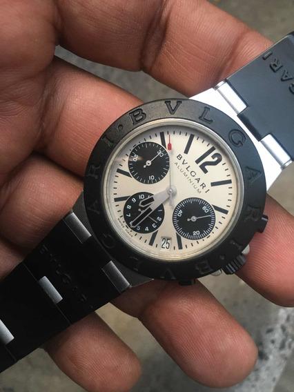Bvlgari Aluminio Chrono 38mm Automatic Solo Reloj