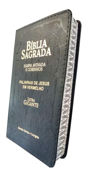 Biblia Sagrada Letra Gigante Com Harpa E Corinhos Capa Luxo