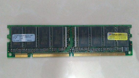 Memória Dimm 64mb - Pc100 Sd-ram Funcionando