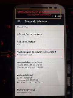 Desbloqueio Google Moto G5 Patch Junho A Setembro