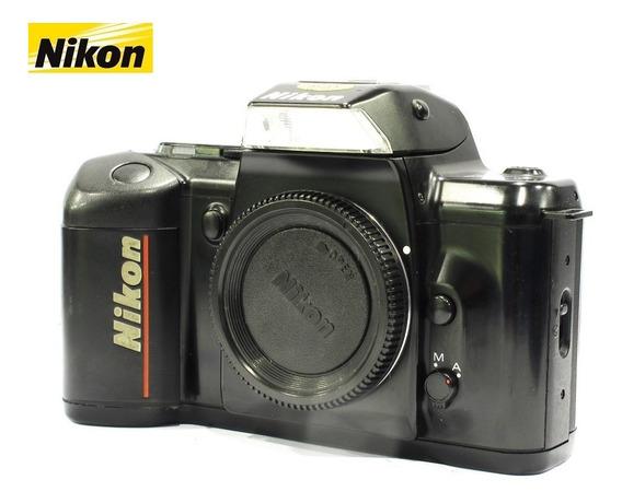 Câmera Nikon F401 Qd Reflex 35mm Analógica - Só O Corpo