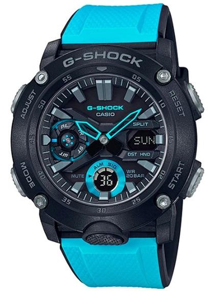 Relogio Casio G-shock Carbon Core Guard Ga-2000-1a2dr + Nfe