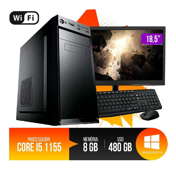 Pc Completo I5,8gb Ram Ddr3,ssd 480gb 5% Desconto Pg A Vista
