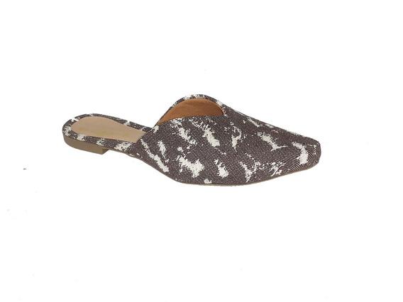 Mule Sapatilha Sapato Feminina Moda Elegance Estampa