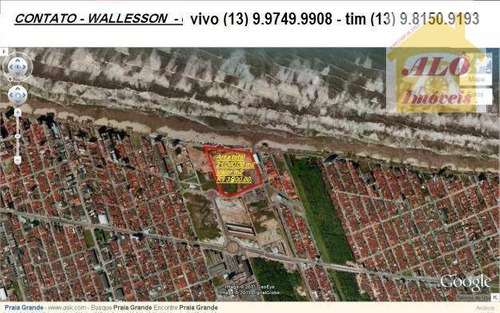 Terreno À Venda, 14193 M² Por R$ 98.000.000,00 - Mirim - Praia Grande/sp - Te0020
