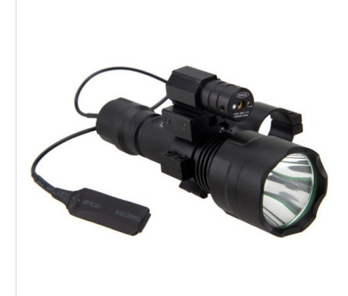 Lanterna Tática 5000lm Xm-l T6 Led +interruptor