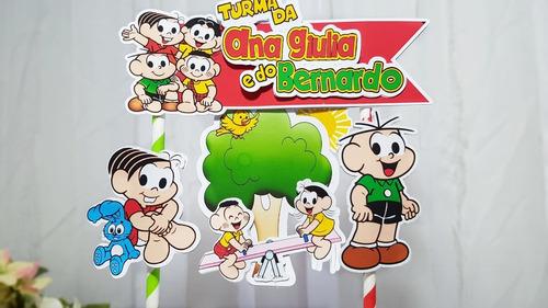 Imagem 1 de 1 de Topo De Bolo Topper Turma Da Mônica